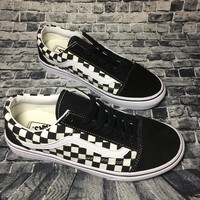 Vans Authentic Anaheim Old Skool Black And White Squares Low Tops Flats Shoes Canvas Sneakers Sport Shoes