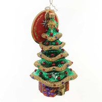Christopher Radko Garland Christmas Tree Glass Ornament