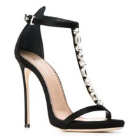 Dsquared2 Embellished Open Toe Sandals - Nike - Via Verdi - Farfetch.com