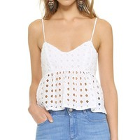 Renzo Eyelet Top