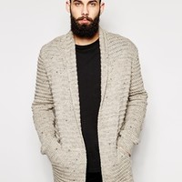 ASOS Longline Cardigan With Neps