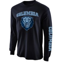 Columbia University Lions New Agenda Distressed Arch & Logo Long Sleeve T-Shirt - Navy Blue
