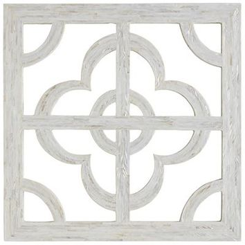 Mother-of-Pearl Quatrefoil Wall Decor - Ivory