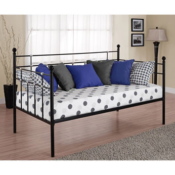 Twin Size Metal Daybed in Black Finish