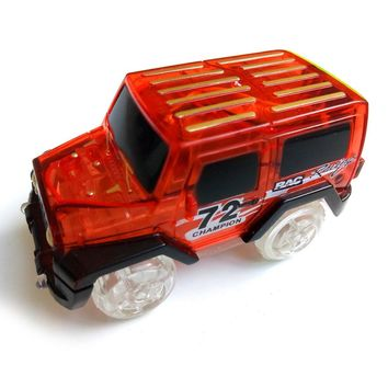 Children LED Electric Car Toy for Glow Tracks Shining in the Dark Amazing Racetrack Race Car(Not Include Tracks)