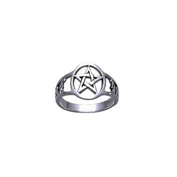 Pentagram Pentacle Ring WZTR731