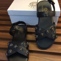 VERSACE Leather Sandals Slippers