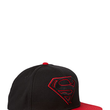 Superman Snapback Hat Black/Red One