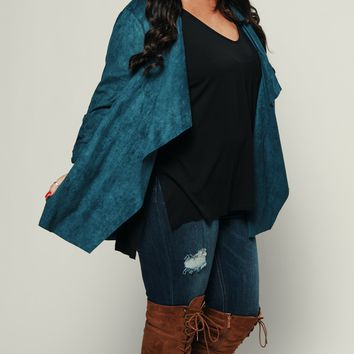 Curvy Jamming Out Jacket (Teal)