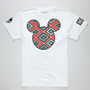 Neff Disney Collection Aztec Mickey Prime Mens T-Shirt White  In Sizes
