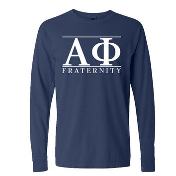 Alpha Phi // Comfort Colors Long Sleeve // Sorority Tee // Choose Your Colors
