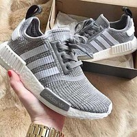 adidas nmd fashion trending women men leisure running sports shoes