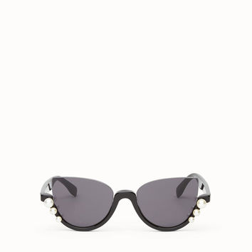 Black sunglasses - RIBBONS AND PEARLS | Fendi | Fendi Online Store