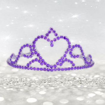 Tiara Headband - Girls Birthday Party - Dress Up Girls - Princess Costume - Childs Headband - Princess Queen - Baby Tiara Headband