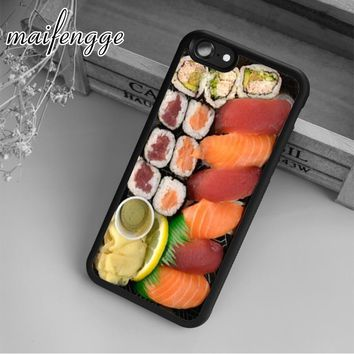 maifengge Delicious Sushi Funny Food Case For iPhone 6 6S 7 8 Plus X 5 5S SE Case cover for Samsung S5 S6 S7 edge S8 Plus shell