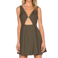 NBD x REVOLVE Earned It Midi Dress in Army Green