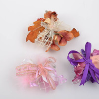 Set of blanks for brooches and hair clips 3 pieces handmade fittings