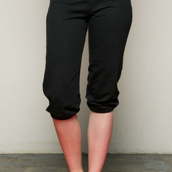 Casual Capri Yoga Pants Black