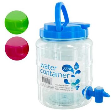 72 oz Water Container with Spigot & Handle ( Case of 8 )