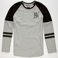 Rvca Hustle Mens T-Shirt Grey  In Sizes
