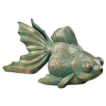 Park Avenue Collection Butterfly Koi Piped Statue