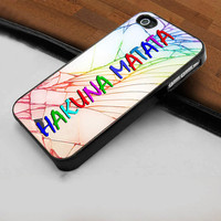 Hakuna Matata Cracked Out - Hard Case Print for iPhone 4 / 4s case - iPhone 5 case - Black or White (Option Please)