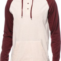 Zine Got It 2 Tone Hooded Henley Shirt