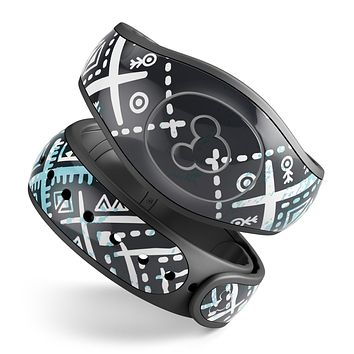 Ethnic Aztec Navy Point - Decal Skin Wrap Kit for the Disney Magic Band
