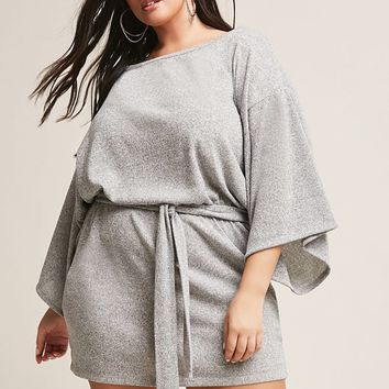 Plus Size Belted Dress