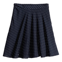 H&M - Circle Skirt - Dark blue/White - Ladies