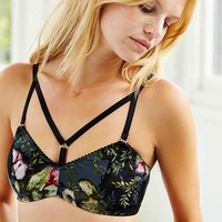 Underprotection Floral Bra- Black Multi