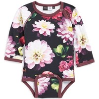 Infant Girl's molo 'Fernanda' Cotton Blend Print Bodysuit