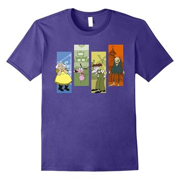 CN Courage the Cowardly Dog Character Panels Graphic T-Shirt