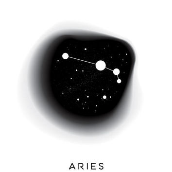 Aries Print, Zodiac Constellation, Astrology Poster, Zodiac Birthday Gift, Geometric Printable, Modern Design, Large size, Minimal Poster