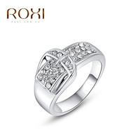 ROXI Brand Color Statement Wintersweet Wedding Rings Crystal Zircon Ring Fashion Women Body Jewelry Christmas Gift
