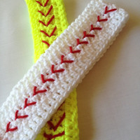 Softball Headband, Crochet Headband, Softball Ear Warmer