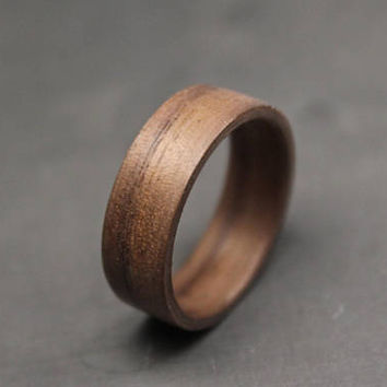 Walnut Wood Ring, Wooden Ring, Bentwood Rings, Wood Wedding Bands, Wooden Engagement Rings, Black Walnut Wood Rings, Custom Bands.