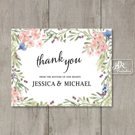 printable personalized thank you card from pdr printables boho - Personalized Thank You Cards