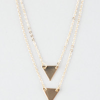Full Tilt Dainty Double Triangle Layer Necklace Gold One Size For Women 26868562101