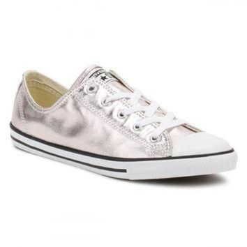DCKL9 Converse All Star Chuck Taylor Womens Dainty Ox Rose Quartz/Black/White Trainers