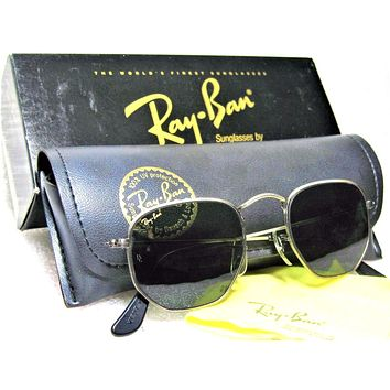 Ray-Ban USA *NOS Vintage B&L Antique Collection Pewter W1287 NEWinBOX Sunglasses