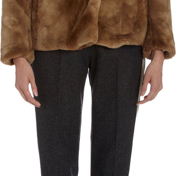 Dries Van Noten Faux Fur Chubby Coat at Barneys.com