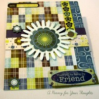 Thank You for Being My Friend Handmade Thank You Card  | APENNY4URTHOUGHTS - Cards on ArtFire