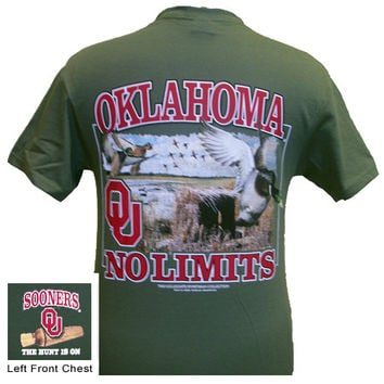 Oklahoma Boomer Sooners OU No Limits Duck Hunt Unisex Bright T Shirt