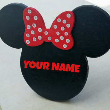 Table Top Minnie/Mickey Name Plaque
