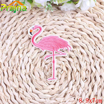 DIY Embroidery Cartoon Cute Patches For Jeans Clothes Stickers Iron On Embroidered Bird Flamingo Patch Badges For Kids Clothing