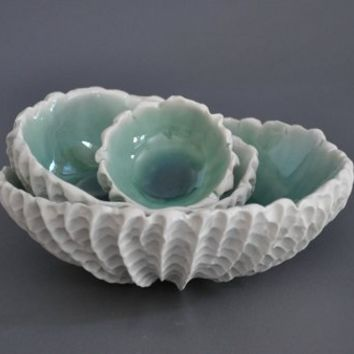 Nesting Scallop Bowls
