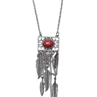With Love From CA Square Dream Catcher Necklace - Womens Jewelry - Silver - One