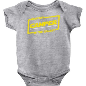 okayest camper in the galaxy funny camping Baby Onesuit