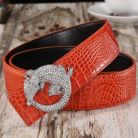 Men's Belts 2017 Hot Fashion Cowhide Genuine Leather Luxury Famous new designer high quality diamond buckles waistband for male